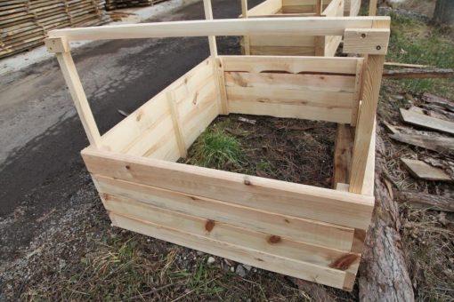 vyvýšený záhon z borovice